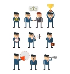 set of business at work vector image vector image