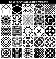 SET OF DIFFERENT SEAMLESS PATTERNS vector image