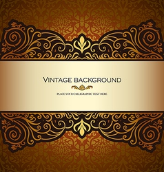 Vintage card gold royal vector image vector image