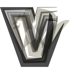 Abstract letter v vector