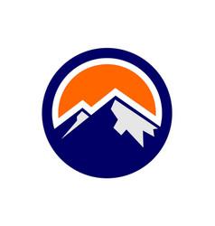 abstract mountain logo circle concept icon vector image