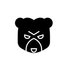 bear market icon black sign vector image