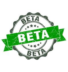 beta stamp sign seal vector image