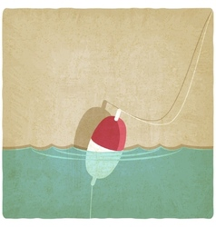 Bobber fishing old background vector