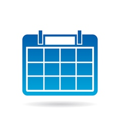 Calendar year agenda for 12 months vector