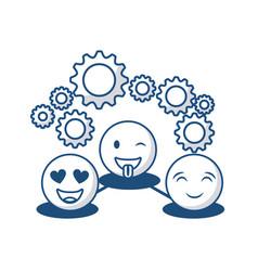 cartoon face design vector image