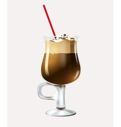 Cartoon latte vector