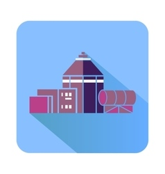 Chemical hangar icon flat style vector