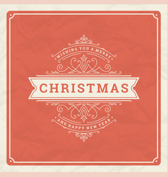 Christmas and happy new year text greeting card vector