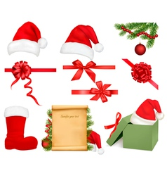 christmas objects vector image
