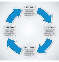 Circular Arrows - Four Steps vector