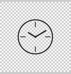 clock icon isolated on transparent background vector image