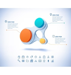 colorful businesscircle connect vector image