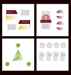 colorful infographic process chart and arrows vector image