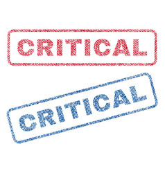Critical textile stamps vector
