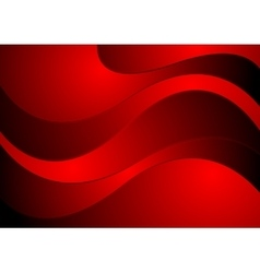Dark red waves corporate design vector image