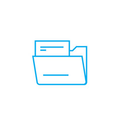document folder linear icon concept document vector image