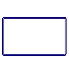 Double rounded rectangle frame template vector