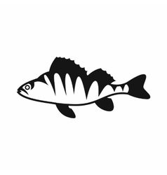 European perch Perca fluviatilis icon vector image
