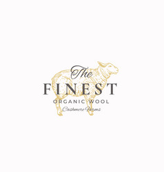 Finest wool abstract sign symbol or vector