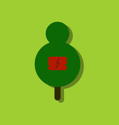 Flat icon design collection sign on tree vector