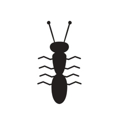 Flat icon in black and white style ant insect vector