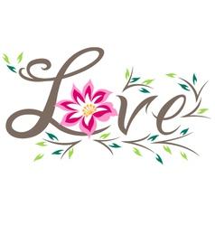 Floral love design vector
