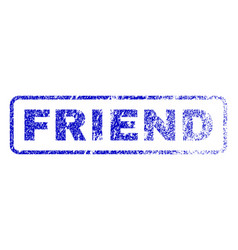 Friend rubber stamp vector