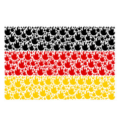 German flag pattern of fire flame icons vector