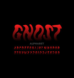 Ghost style halloween font vector
