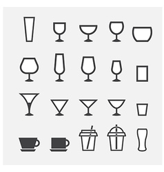 Glass and cup icon vector