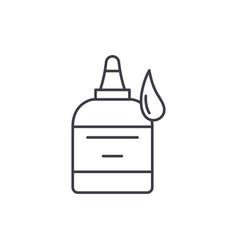 glue line icon concept glue linear vector image