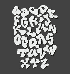 graffiti hand lettering alphabet font vector image