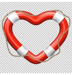 Heart Lifebuoy EPS 10 vector