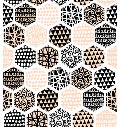 hexagon abstract seamless pattern vector image