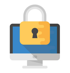 Internet security flat icon vector