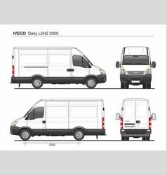 Iveco daily l2h2 2009 cargo delivery van vector