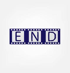 last film frame vector image