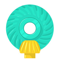 Main gear icon cartoon style vector