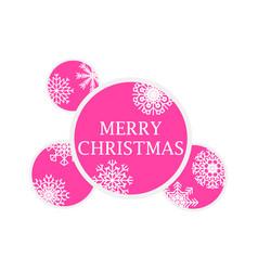 merry christmas christmas balls with snowflakes vector image