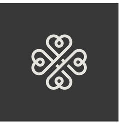 Minimalism hearts in form a monogram style vector