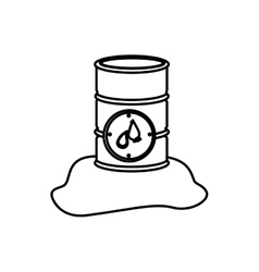 monochrome contour with metallic barrel with vector image
