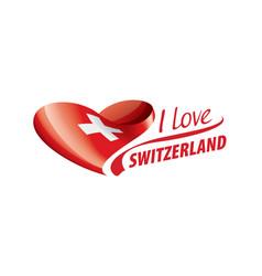 National flag switzerland in shape vector