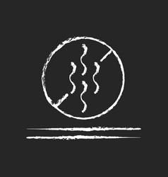 Odor resistant textile feature chalk white icon vector