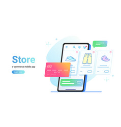 online store e-commerce mobile app vector image