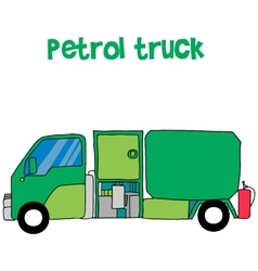 Petrol truck cartoon for kids vector image