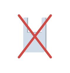 Plastic bag stop symbol vector