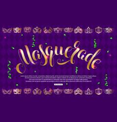 Purple masquerade background vector