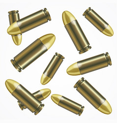 Realistic bullet pattern background vector