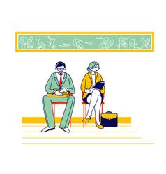 Recruitment job interview concept unemployed vector